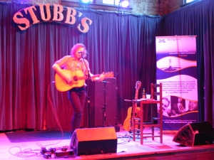 Jonathan Terrell onstage at Stubb's during Keep Central Texas Strong